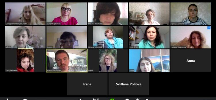 Дистанційне засідання кафедри англійської мови